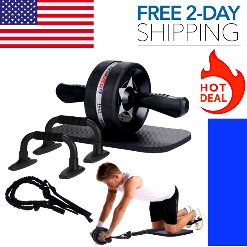 6/1 Ab Roller Wheel Kit Home Gym Equipment for Men Women Abd
