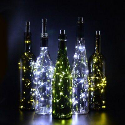 (Cork Shaped 15LED Night Light Starry Light Wine Bottle Lamp Party Decoration USA)
