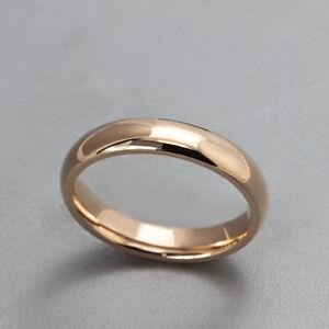 Ladies 10K Rose Gold Filled Wedding Band Rings Sz 6, 7 -New