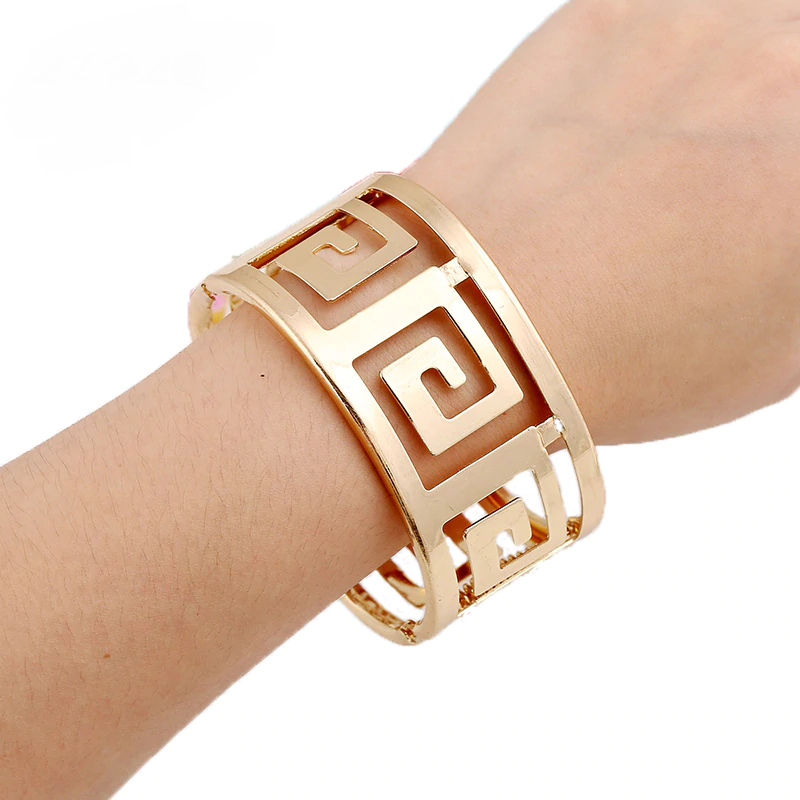 Damen Gold Silber Berit Armband Armreif Armspange flexibel stabil 3,7 cm Schmuck