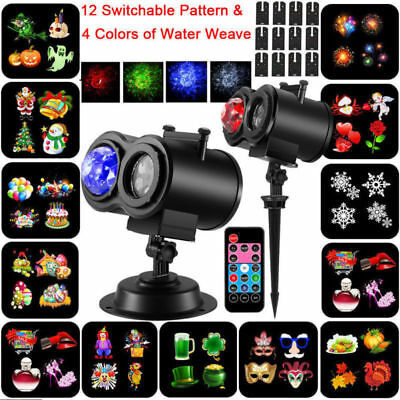 Christmas Projector Light Moving Snowflake LED Laser Landscape Outdoor Xmas Lamp](Lighted Snowflakes Outdoor)