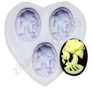 Lolita-Skeleton-3-Cavities-Cabochon-Flexible-Silicone-Mold-For-Polymer-Clay-Fimo