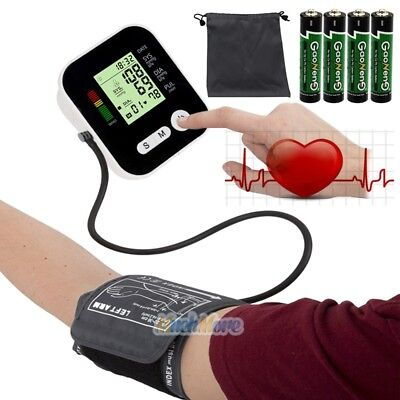 Push Button Automatic One Touch Upper Arm Blood Pressure Cuff Monitor in Case US