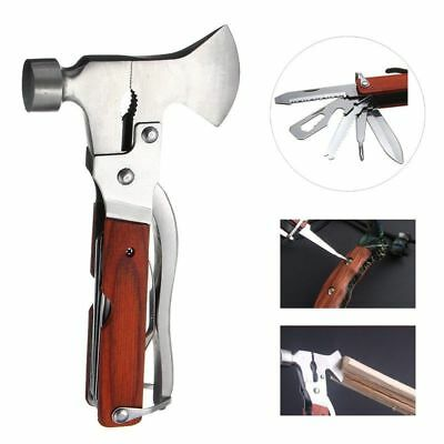 17 Functions Emergency Hammer Camping Hiking Survival Gear Tool Kit Set Outdoor