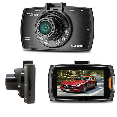 HD 1080P LCD Car Camera DVR Dash Crash Cam G-sensor Night Vision HDMI Black