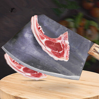 Gtj Carbon Steel Forged Professional Chef Chopping Bone Knife Cutting Big Bone