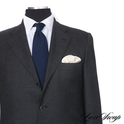 #1 MENSWEAR Kiton Napoli 100% Cashmere Grey Light Flannel Jacket Pants Suit 50 Suiting Menswear Pant
