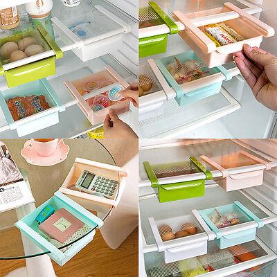 2 Schublade Schrank Organizer (2X Gefrierschrank Kühlschrank Lagerregal Organizer Schublade Aufbewahrungsbox)