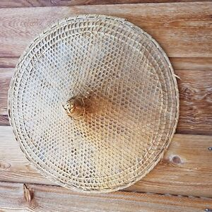 Vintage Large Asian Bamboo Sun Hat - Rice Paddy Hat