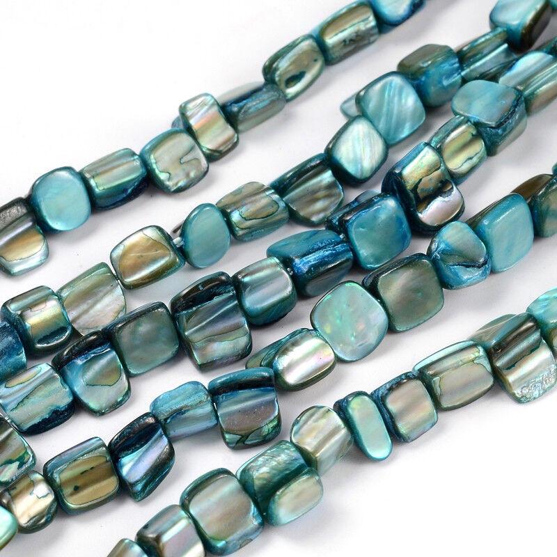 Mixed 40pcs x 10mm Dia Flat Round Shell Beads