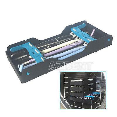 1xdental Plastic Sterilization Cassette Rack Tray Holder 10 Instruments Tray