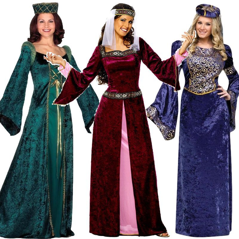 Ladies Renaissance Medieval Banquet Fancy Dress Costume Outfit 8 26