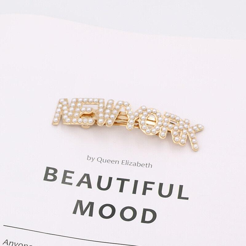 Frauen Perle Haarspange Haarspange New York Tokio London Paris Haarschmuck Neu