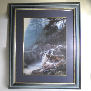 Art Picture Lithograph Kevin Daniel Lonely Vigil Framed Print Kitchener / Waterloo Kitchener Area image 1