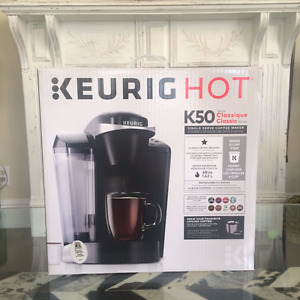 NEW IN BOX, KEURIG HOT 50 CLASSIC SINGLE SERVE COFFEE MAKER
