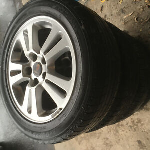 Saab 205 55 r16  tires and mags 9-3