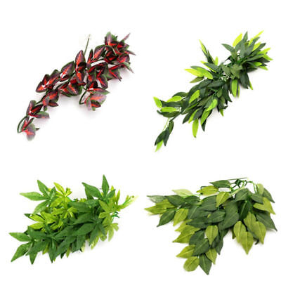 12'' Reptile Vivarium Realistic Jungle Silk Plant Vine Decor Ornament w/ - Reptile Decor
