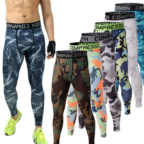31773d5b78 Details about Men Warm Layer Tight Pants Stretchy Sports Jogger Camo  Tracksuit Legging