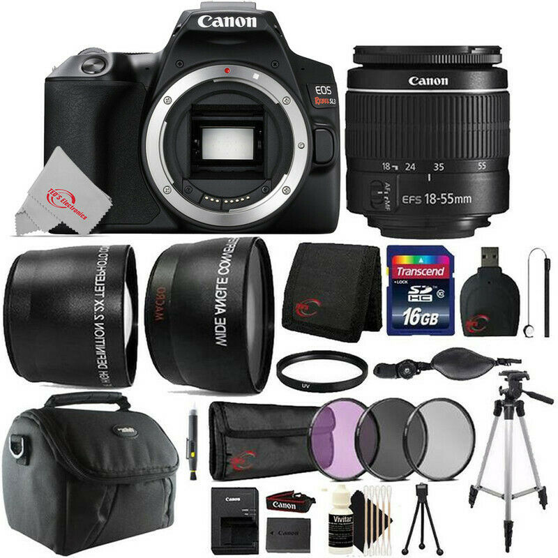 Canon EOS Rebel SL3 DSLR Camera with 18-55mm Lens Top Accessory Kit