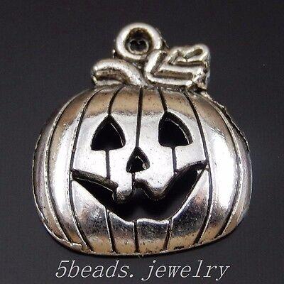 76 Stück Antike Silber Legierung Halloween-Kürbis Anhänger Charme Kunst 50385 (Halloween Kuerbis)