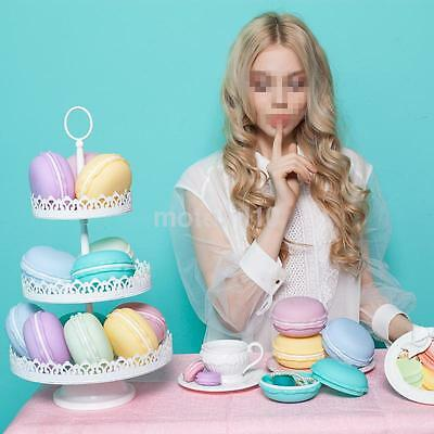 Large Portable Candy Color Cute Macaron Storage Box For Ring Necklace Earring US