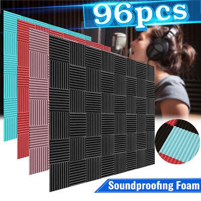 "96Pcs Foam Acoustic Panels Studio Soundproofing Foam Wedge 10"" x 10'' x"