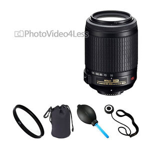 Nikon 55-200mm f/4-5.6G ED IF AF-S DX VR Lens Kit for D3100 D3200 D5100 D7000