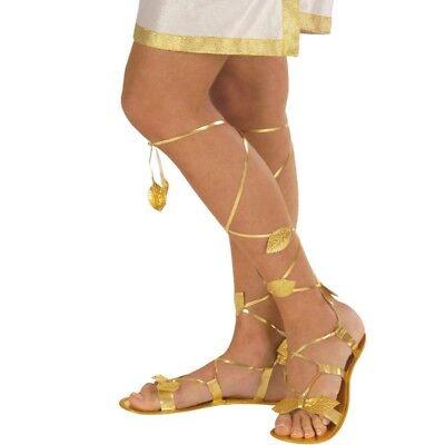 Damen Römersandalen gold Antike Schuhe Griechische Göttin Schuhe Sandalen #1830