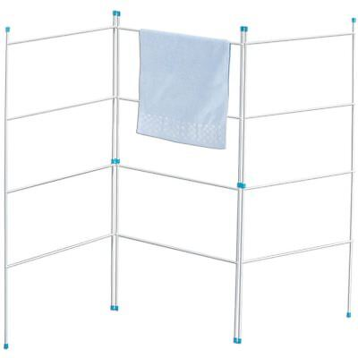3 Fold Airer Clothes Drying Rack Folding Laundry Horse Holder By Home Discount