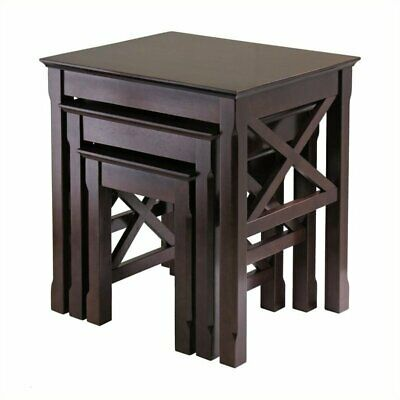 Pemberly Row Nesting Table Set in Cappuccino Finish Cappuccino Nesting Table