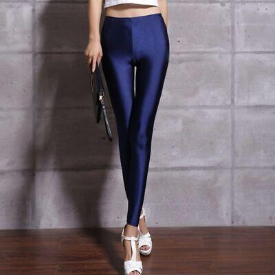 Lycra Spandex Leggings (Neon Leggings Shiny Super Elastic Design Lycra Spandex High Waist Stretchy Gift)