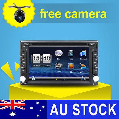 "6.2"" Double 2 Din Car DVD Player Radio Stereo GPS SAT NAV MP3 AUX USB Bluetooth"