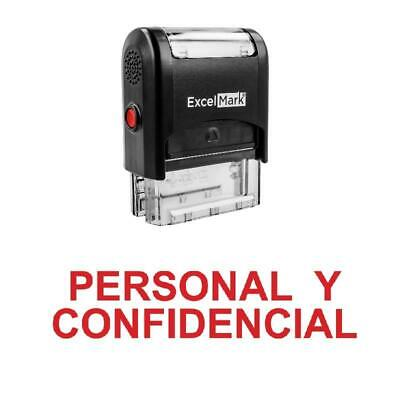 Personal Y Confidencial Stamp - Self-inking Red
