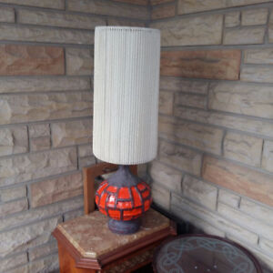 RETRO MID CENTURY MODERN DANISH WEST GERMANY STRING SHADE LAMP