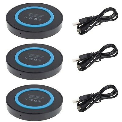 3Pcs QI Wireless Charging Pad Mat for Samsung Galaxy Note 8 S8 Plus S7 Active (Samsung Galaxy Note 3 Wireless Charging Pad)