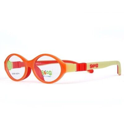Flexible Soft Silicone Kids Optical Frame Round Myopia Glasses Sight Spectacle