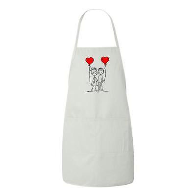 Beegeetees Friends In Love Valentines Day Gift Apron Friends