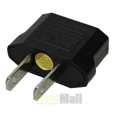 EU Euro Europe to US USA Power Jack Wall Plug Converter Travel Adapter NEW