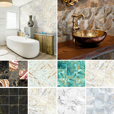 Home Decoration - 10-90X Mosaic Wall Tile Sticker Bathroom Kitchen Home Decal Decor Self Adhesive