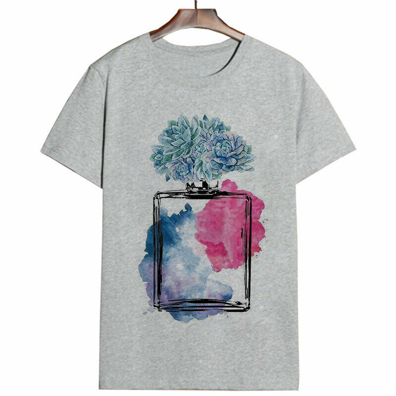 Women Clothes 2020 Summer Fashion Vogue Aesthetic Harajuku Perfume Tshirt Top