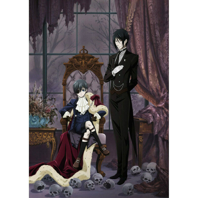 HOT Anime Black Butler Wall Poster Scroll Home Decor Cosplay