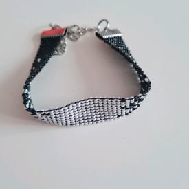 Bracelets beads stones gold silver handmade