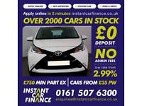 Toyota Aygo Vvt-I X-Play Hatchback 1.0 Petrol GOOD / BAD CREDIT CAR FINANCE