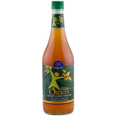 Ostlers Cloudy Apple Cider Vinegar With The Mother 750ml in Glass Bottle