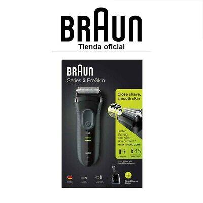 Afeitadora Eléctrica Braun Series 3 ProSkin 3050cc - Recortadora de precisión