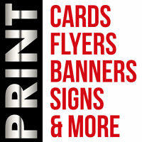 LOW COST PRINT & DESIGN: Business Cards, Flyers, Banners, & More