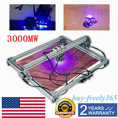 50x65cm Cnc 3000mw Laser Engraving Machine 2axis Dc 12v Diy Engraver Desktop Usa