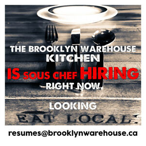 Now Hiring - Sous Chef Position