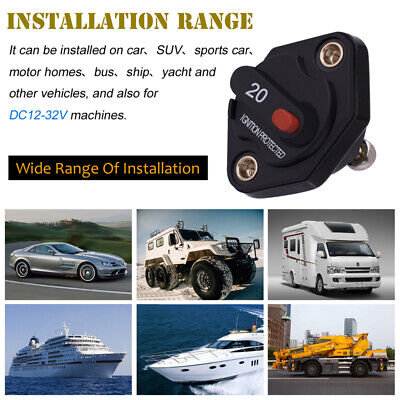 20a-50a Amp Circuit Breaker Fuse Reset 12-24v Dc Boat Car Modification Accessory