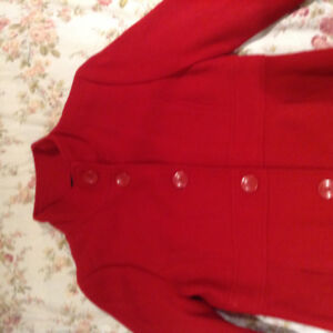 Gorgeous Red Girls Dress Coat for Christmas Time!